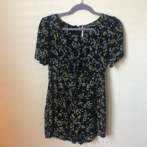 Sunflower Romper w/ cutout